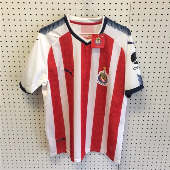 size 40 aa33a a0877 Chivas home jersey 18-19 sz XL FITTED NWT